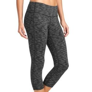 Athleta Cropped Yoga Capri Heather Grey Leggings S